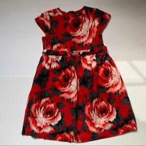 Gap girls red and black holiday dress